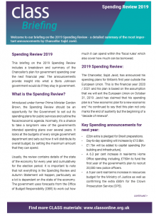 Spending Review Briefing