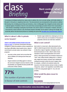 Briefing: Rent control - what is Labour offering?