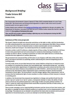 Briefing: the Government's proposed new Trade Unions Bill