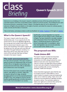 Briefing: The Queen's Speech 2015