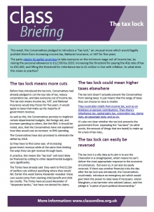 Briefing: The Tax Lock