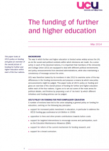 The funding of further and higher education