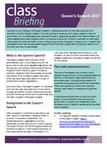 Queen's Speech 2017 Briefing