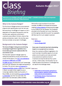 Autumn Budget Briefing 2017