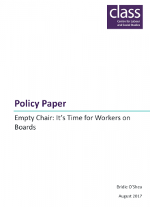 Empty Chair - It's Time for Workers on Boards
