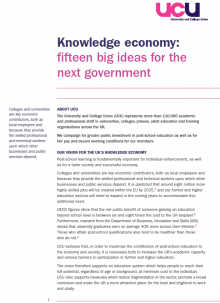 Knowledge economy: fifteen big ideas for the next government