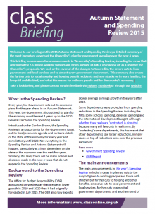 Briefing: Spending Review 2015