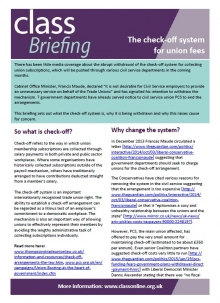 The check-off system for union fees