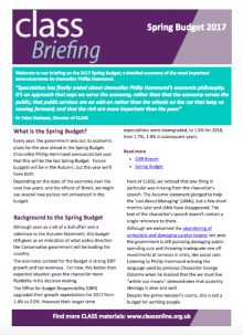 Spring Budget 2017 Briefing